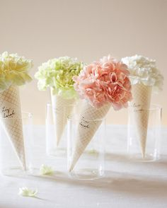 The party might be over, but that doesn't mean the celebration has to end! Party favors are a sweet, simple way to thank your guests. Think: prettily packaged bags filled with sweets, silly toys, or heartfelt tokens. Clip-Art Carnation ConesWe'll start with these paper-wrapped posies that are as sweet as ice cream. These are beautiful for any baby shower, bridal bash, or summertime soiree.