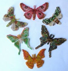 peyote beaded butterflies / patterns for sale THESE WOULD MAKE GREAT BROOCHES