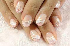 cute lace nail art - 45  Lace Nail Designs  <3 <3