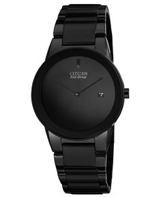 Citizen Men's Eco-Drive Axiom Black Ion-Plated Stainless Steel Bracelet Watch 40mm