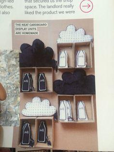 Car board shelves for display
