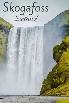 The Skogafoss Waterfall Iceland... A 60m high curtain shower. Impressive from afar and even more impressive from up-close! And it is very easy to access it - Photos and practical info at: http://www.zigzagonearth.com/skogafoss-waterfall-iceland/