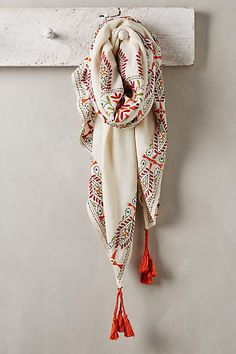 Paola Embroidered Scarf - anthropologie.com