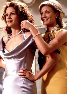 My Best Friend's Wedding - Julia Roberts stars opposite Cameron Diaz, Dermot Mulroney and Rupert Everett in this 1997 romantic comedy. She plays a woman who doesn't realize shes in love with her best friend (Mulroney) until after he becomes engaged to another woman (Diaz).