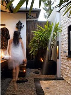 Indian style restroom | adopt from east indian style make outdoor bathroom and shower look so ...