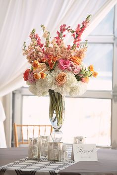 Tall vase with baby's breath