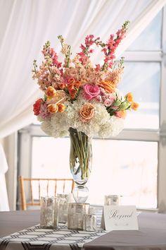 Glam City Wedding by Kristin Vining - Southern Weddings Floral Centerpieces, Wedding Centerpieces, Floral Arrangements, Wedding Bouquets, Tall Centerpiece, Flower Bouquets, Spring Wedding, Dream Wedding, Floral Wedding