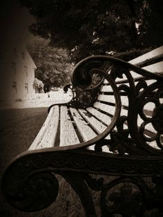 Park Bench photo art print home decor vintage by Jemvistaprint, $25.00