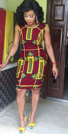 Weekend Special: Step Up Your Style Game in these Trendy & Timeless Ankara Styles - Wedding Digest Naija African Print Dresses, African Fashion Dresses, African Attire, African Wear, African Women, African Dress, African Prints, Ghanaian Fashion, African Patterns