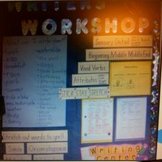 Writers Workshop Bulletin Idea