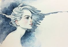 Getting back into traditional art <3 tools: winsor&newton watercolors on moleskine you can find wip steps on my instagram account www.instagram.com/selenada.art…