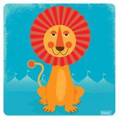 Sun Lion Art Print Modern Nursery