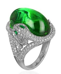 This is Jacob & Co,'s green tourmaline Snake ring. What do you think?