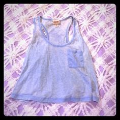 Light blue casual crop top Lightly worn Mossimo Supply Co Tops Crop Tops