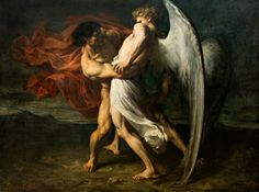 "Alexander Louis Leloir, ""Wrestling With the Angel"""