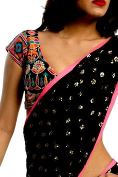 6Y Collective sari - embroidered blouse