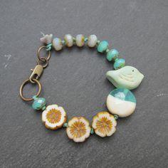 Bird bracelet artisan bead bracelet nature inspired by BeadyDaze, £24.00