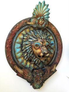 Online portfolio of Assemblage Artist Michael deMeng Nemean Lion, Plum Organics, Found Object Art, Assemblage Art, Metal Clay, Creative Crafts, Art Blog, Mixed Media Art, Altered Art