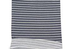 Heather Dark Blue and Off White Stripe Baby by felinusfabrics