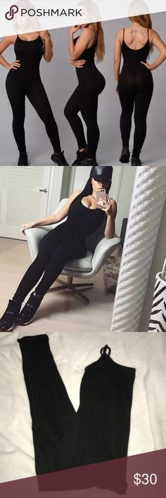 Black S Jumpsuit Catsuit Super sexy New Black stretchy cotton spandex Similar to Naked Wardrobe Naked Wardrobe  Pants Jumpsuits & Rompers