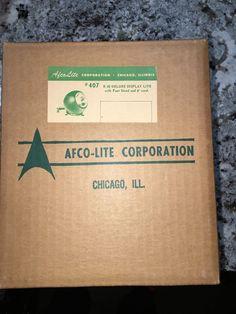 Afco Lite SEALED Deluxe Display Light #407 Mid Century Modern Orb Eye Christmas