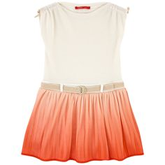 Top: Polyester net stitching Bottom: Synthetic jersey Pleasant to the touch Comfortable item Cloth fitting cut Crew neck Loose collar Short sleeves Pleated hem Fancy bows Detachable belt Belt with a buckle Tie Dye effect Small logo patch on the heels - 72.07 €