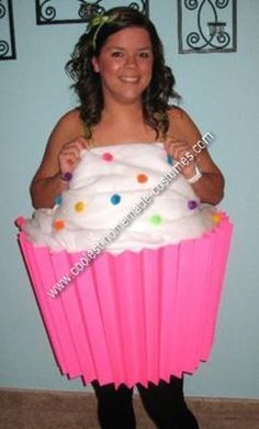 Homemade Cupcake Halloween Costume THIS IS SAVANNAH BUT ANYWAY I AM SOOO TRYING THIS IM BEING THIS 4 HALLOWEEN !!!!!!!!