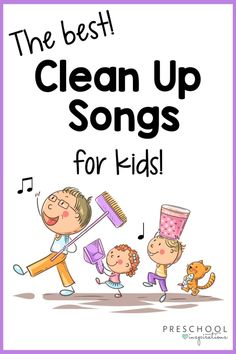 Clean up time isn't always easy for kids! Help them get used to the task with these fun clean up songs. They bring fun and positive reinforcement into the job and can be just the magical clean up wand you need at home or school! Music Activities For Kids, Songs For Toddlers, Kids Songs, Preschool Cubbies, Preschool Ideas, Clean Up Song, Rainbow Songs, Transition Songs, Movement Songs