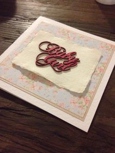 We love our Handmade vintage pretty  'baby girl' card.
