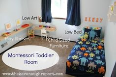 This woman put a lot of thought into this room- I love how everything is at just the right height for a toddler to really enjoy the room!