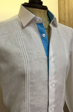 #camisa #lino #personalizada #slim #fit