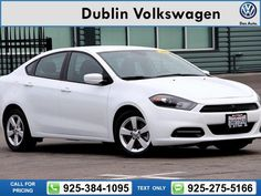 2015 Dodge Dart SXT 23k miles Call for Price 23969 miles 925-384-1095  #Dodge #Dart #used #cars #DublinVolkswagen #Dublin #CA #tapcars