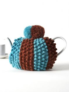 Crochet Popcorn Tea Cozy | Yarn | Free Knitting Patterns | Crochet Patterns | Yarnspirations