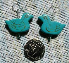 Dicky bird sterling silver earrings £2.50