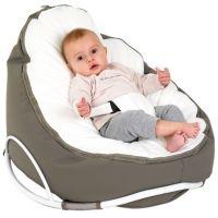 Doomoo skråpude/sækkestol seat original med gynge, farve duegrå