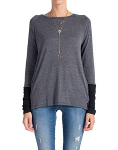 Dipped Sleeves Long Sleeve Top | 2020AVE