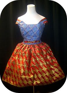 """African Prints in Fashion: Kachi Designs: """"I produced my first ensemble using my own bedding"""""""