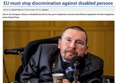 EU must stop discrimination against disabled persons | The Parliament Magazine https://www.theparliamentmagazine.eu/articles/opinion/eu-must-stop-discrimination-against-disabled-persons