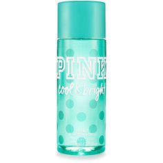 PINK Travel-size Cool & Bright Body Mist ($10) ❤ liked on Polyvore featuring beauty products, fragrance, beauty, perfume, print, travel size perfume and perfume fragrance