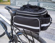 Spain Fast Shipping Black Color High Quality Cycling Bicycle bag Bike Rear Seat Trunk Bag bike panniers