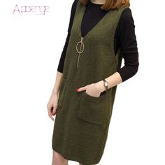 APOENGE 2017 suit autumn and winter dress korean clothes for women loose dress long sleeve sweater dresses sarafan Skirt Outfits, Casual Outfits, Fashion Outfits, Womens Fashion, Long Sleeve Sweater Dress, Jumper Dress, Dress Long, Korean Dress, Korean Outfits
