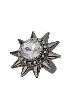 Get into the galactic fever with this spike bomb ring. Jewelry Rings, Jewelry Accessories, Jewellery, Cool Gifts, Everyday Fashion, Wedding Bands, Topshop, Fashion Jewelry, Bling