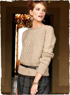 Mirage Cable Baby Alpaca Sweater