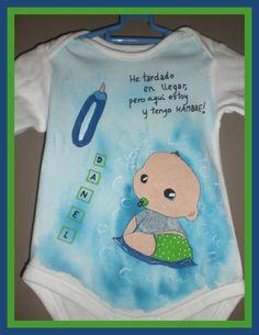 Body pintado a mano para bebés. Personalizados, cada uno con su historia. www.facebook.com/talentopor2