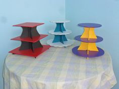 3 Tier  Cake / Cupcake Stand Multi Color PVC by FranksCrafts, $39.95