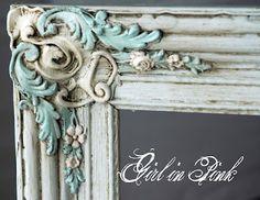 Blue Ornate Frame - LOVE love this!