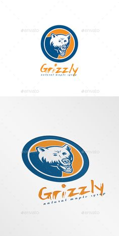 Grizzly Natural Maple Syrup Logo — Vector EPS #animal #artwork • Available here → https://graphicriver.net/item/grizzly-natural-maple-syrup-logo/10029726?ref=pxcr