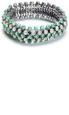 Mango SS13 Jewelled Silver Bracelet