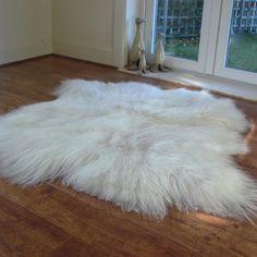 Sheepskin rug for the nursery