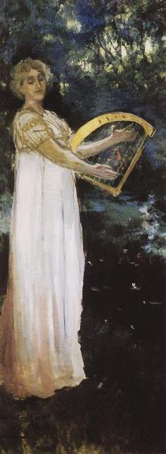A Muse (1887). Konstantin Korovin (Russian, Impressionism, 1861-1939). Oil on canvas. Tretyakov Gallery.